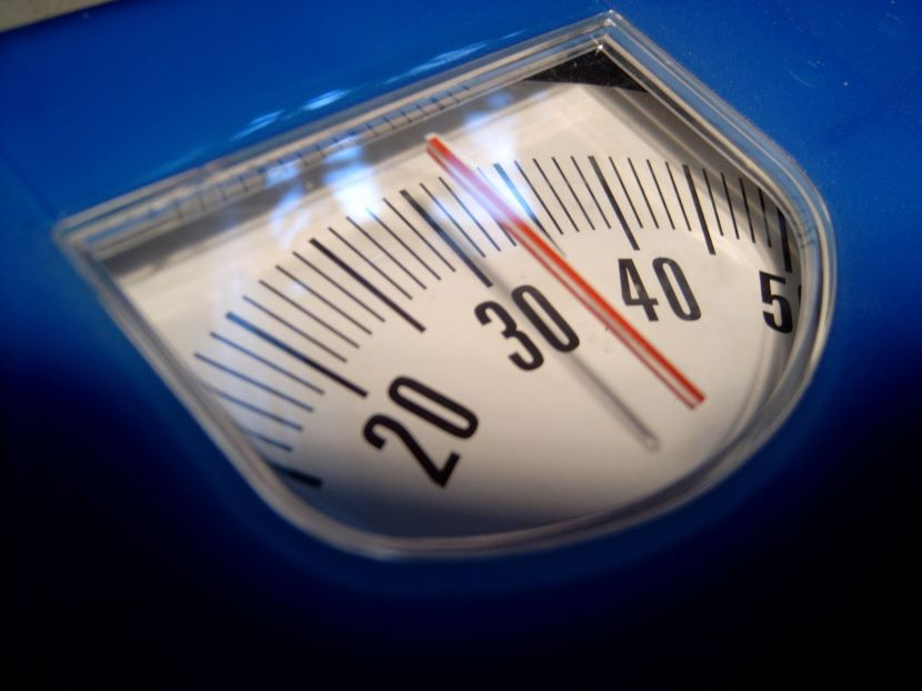 Hypnotherapy weight loss scale